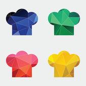 Séf kalapját ikon absztrakt háromszög