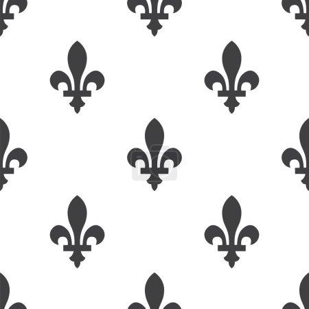fleur-de-lys, vector seamless pattern