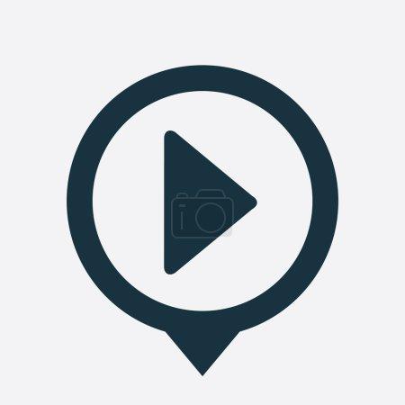 Illustration pour Jouer icône carte NIP sur motif blanc - image libre de droit