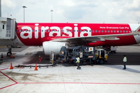 AirAsia's Airbus aircraft refueling