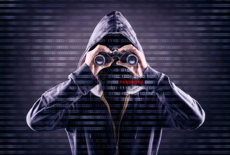 Computer, Anzahl, Gefahr, Schutz, Mann, schwarz - B63576169