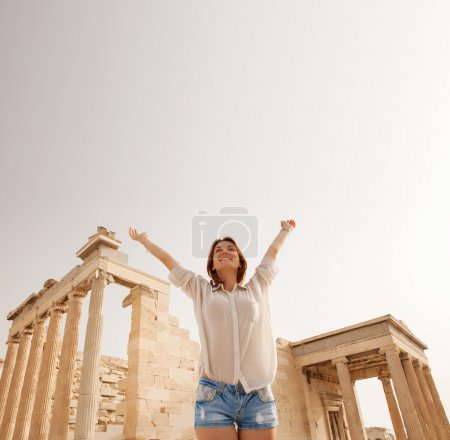 Photo for The Acropolis of Athens is an ancient citadel located on a high rocky outcrop above the city of Athens and contains the remains of several ancient buildings of great architectural and historic significance, the most famous being the Parthenon. - Royalty Free Image