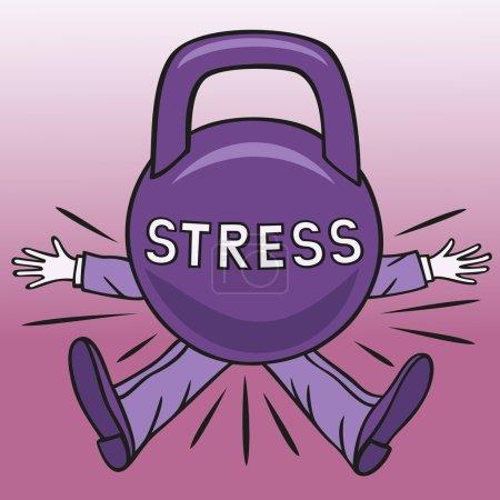 Illustration pour Un stress sévère peut provoquer des troubles de la psyché humaine . - image libre de droit