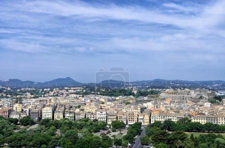 The historic town of Corfu island, Greece