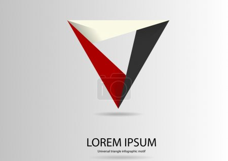 Triangle logo motif template