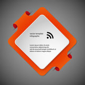 Square infographic template with orange color