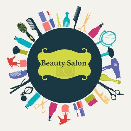 Illustration pour Vecteur pttern de salon de coiffure Flat Barber Shop backgroun - image libre de droit
