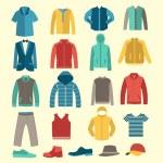 Set of Fashion collection of man wardrobe. Various...
