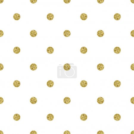 Illustration for Pattern polka dot. Classic dotted seamless gold glitter pattern. - Royalty Free Image