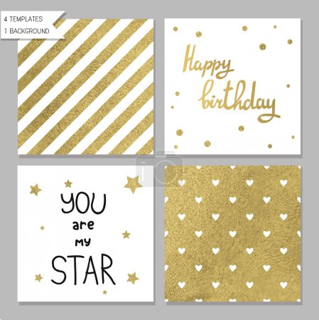Collection of 4 card templates