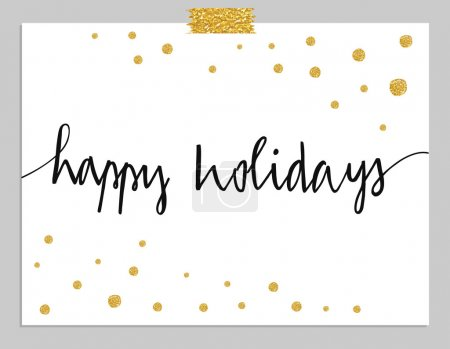 Happy Holidays typography card