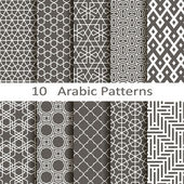 Set of ten vector Arabic patterns