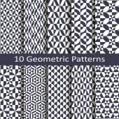 Vector set of ten geometric patterns