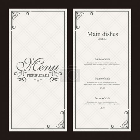 Illustration for Abstract menu background with some special objects - Royalty Free Image
