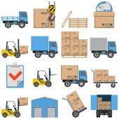 Vector Flat Icons - Shipping isolated on white background