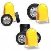 Vektorové pneumatiky s billboard