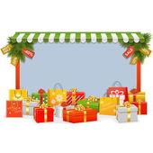 Vector Christmas Shopping Board