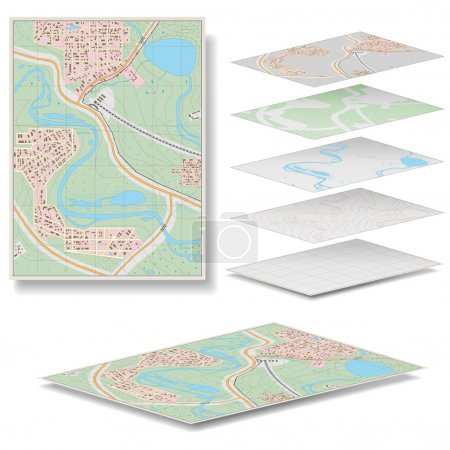 Illustration for Vector Map isolated on white background - Royalty Free Image
