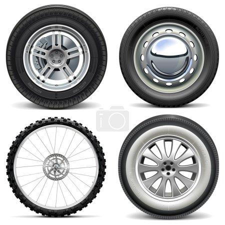 Vector Vehicle Wheels