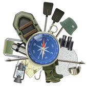 Vector Fishing Tackle with Compass