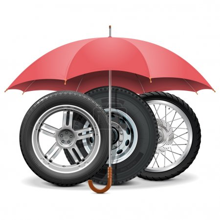 Vector Wheels under Umbrella
