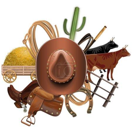 Vector Cowboy Ranch Concept