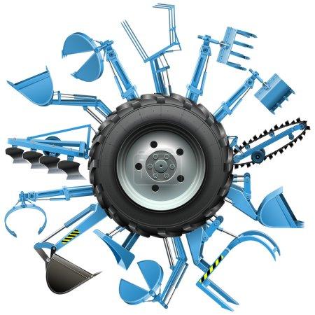 Vector Multi Tractor Wheel
