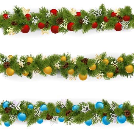 Vector Christmas Borders Set 4