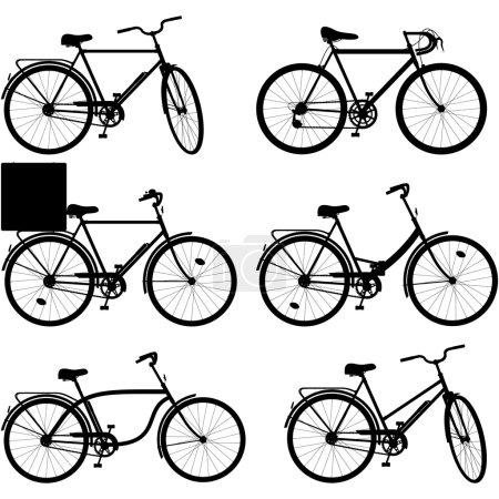 Vector Bicycle Pictogram Set 3
