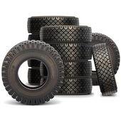 Vektorové staré auto pneu sada 2