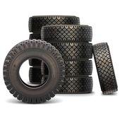 Vektorové staré auto pneu sada