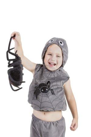 boy dressed as a spider
