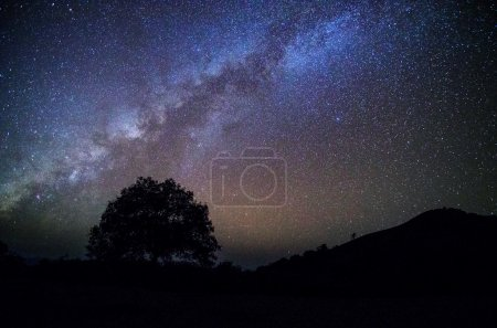 Wide field long exposure photo of the Milky Way...