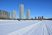 Winter view in Astana, capital of Kazakhstan, host of the EXPO 2017