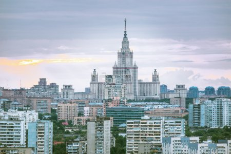 Cityscape of moscow MSU