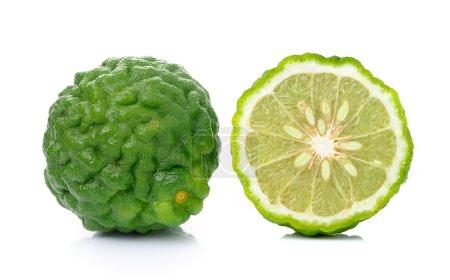 Bergamot fruit on white background.