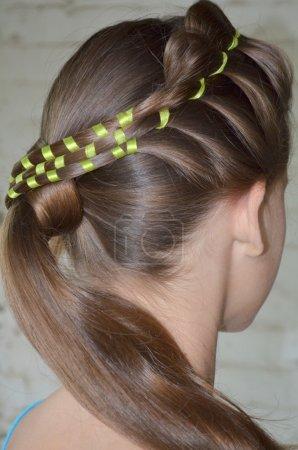 Hairstyle. hair Braiding