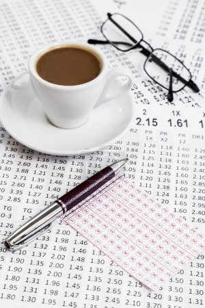 Consultation betting odds list while serving morning coffee