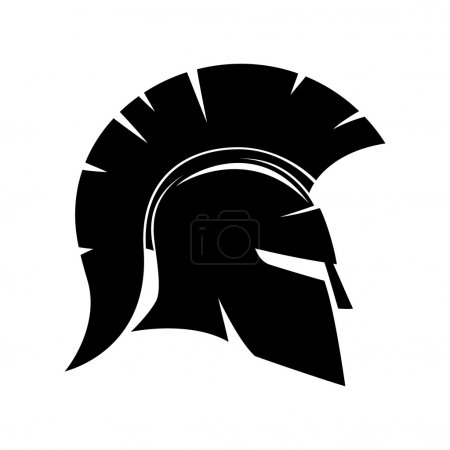 Vector sign of spartan helmet on a white background.