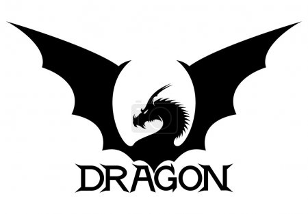 Illustration for The sign of the dragon  on a white background. - Royalty Free Image