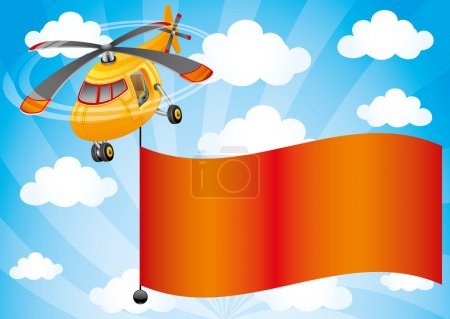 Illustration for Vector illustration for your text. Helicopter. - Royalty Free Image