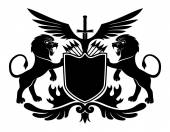 Lions and shield