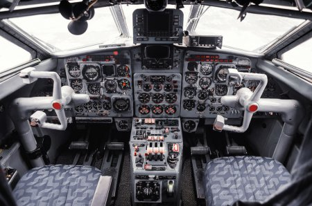 airplane cockpit