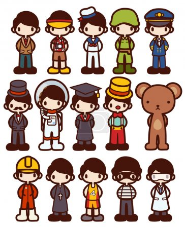 Character Cartoon in Various Job - Vector file EPS10