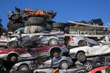 Scrap yard for obsolete motor cars