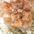 Macro calcite crystal isolated, mineral...