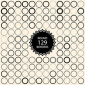 129 vintage round borders Set with circle frames