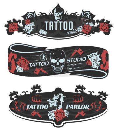 Tattoo Studio Horizontal Banners