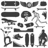 Skateboarding Icon Set