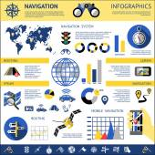 Flat Navigation Infographics